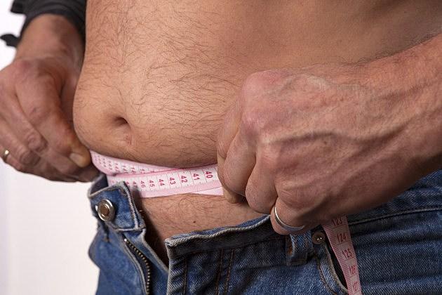 Measurement of the male abdomen