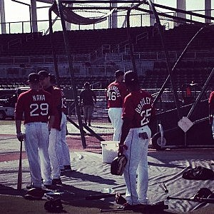 Red Sox batting practice