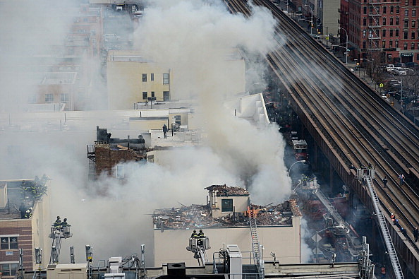US-ACCIDENT-EXPLOSION-NY-BUILDING