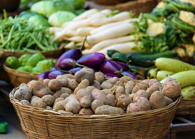 Potatoes and other vegetables for sale