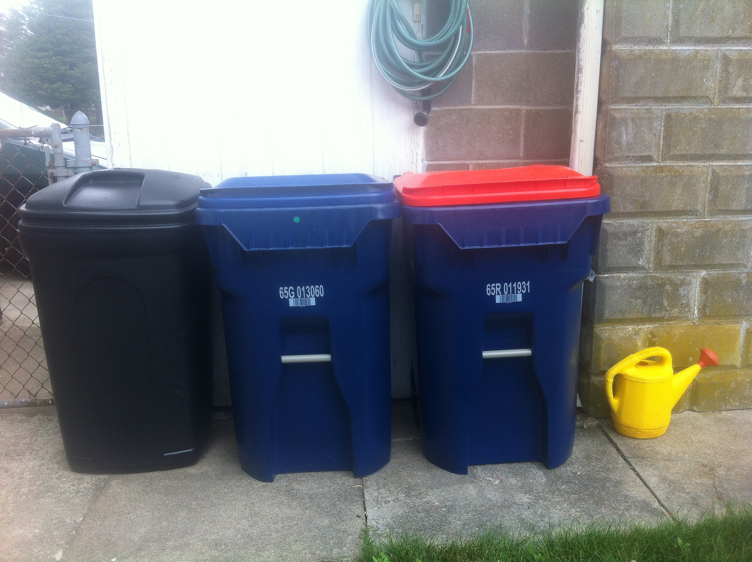 New Bedford trash and recycling bins