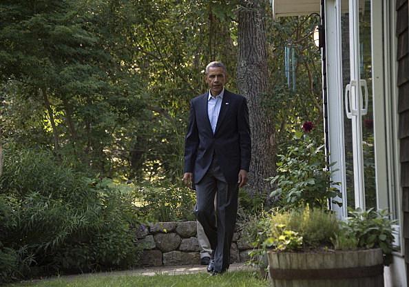 Obama on Vineyard