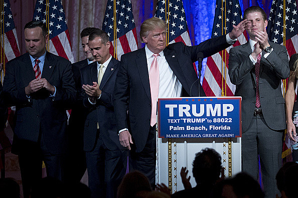 Presidential Candidate Donald Trump Holds Election Night News Conference