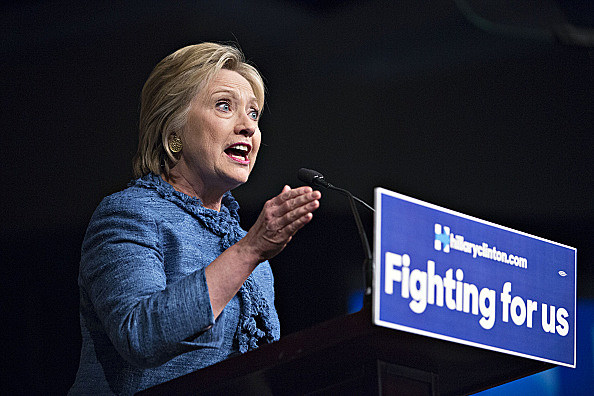 Presidential Candidate Hillary Clinton Holds Election Night Rally