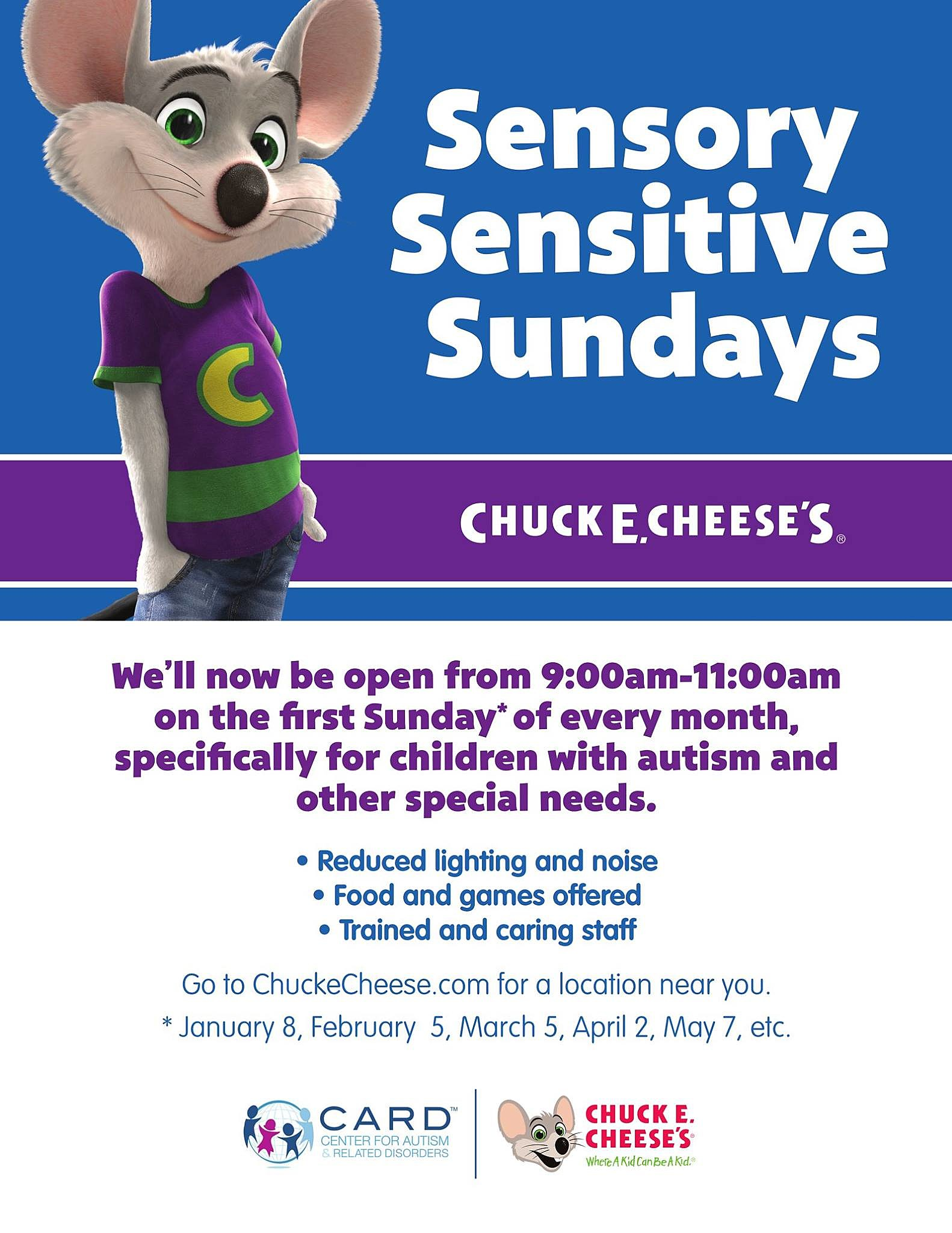 Chuck E Cheese / Facebook