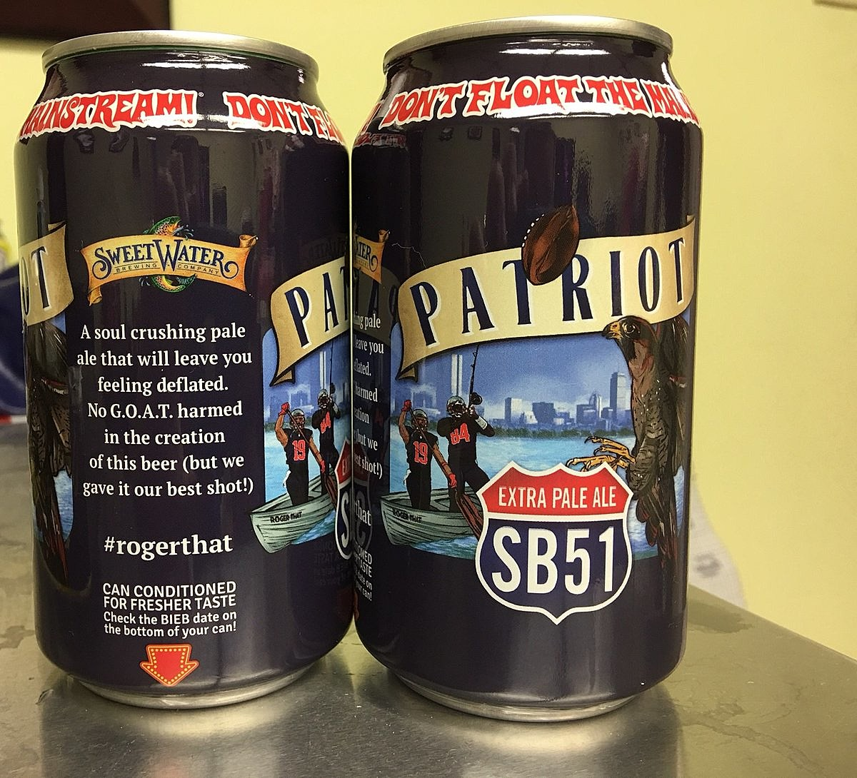 SweetWater Brewing's Patriot Extra Pale Ale. Photo: SweetWater Brewing Facebook