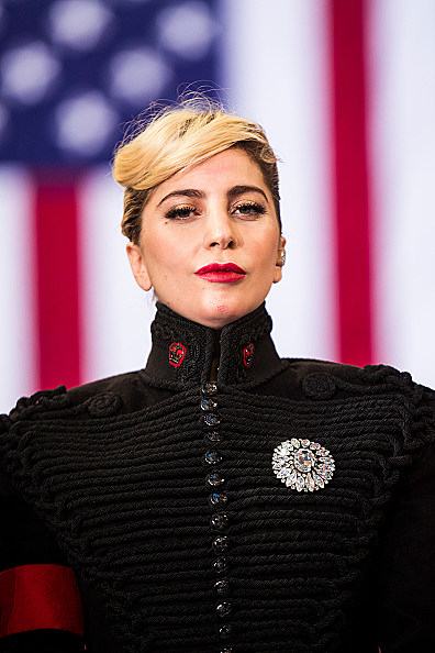 Lady Gaga Performs at a Hillary Clinton Campaign Rally