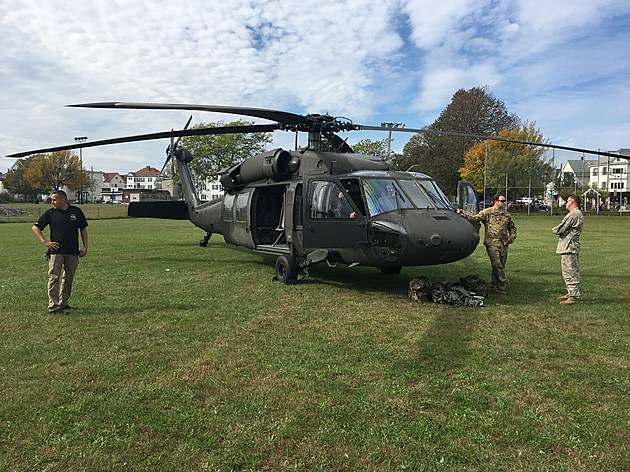 Black Hawk Helicopter put on display during the ceremony by National Guard. Tim Dunn/TSM.